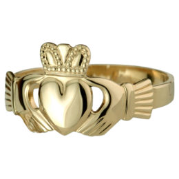 S2989-10K HALLOW BACK LADIES CLADDAGH RING-210 CAD
